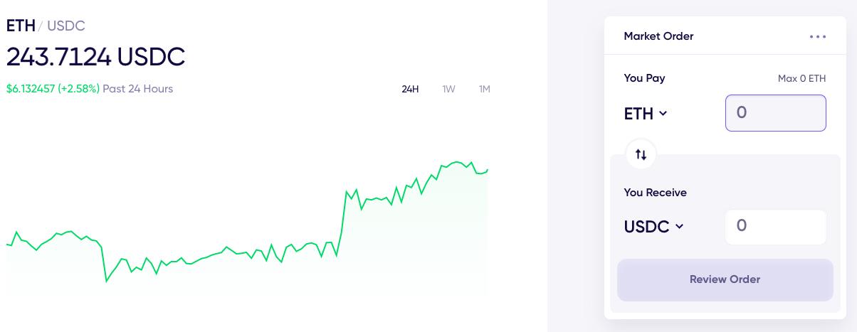 Matcha's Trading Interface