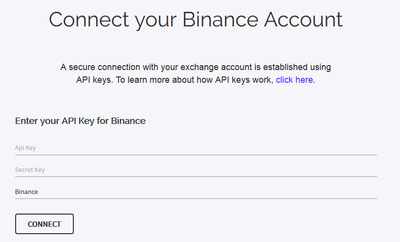 Connect a Binance API