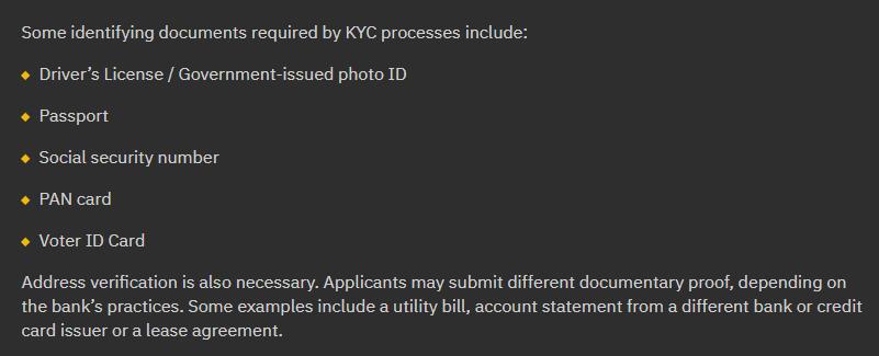 Binance KYC Requirements